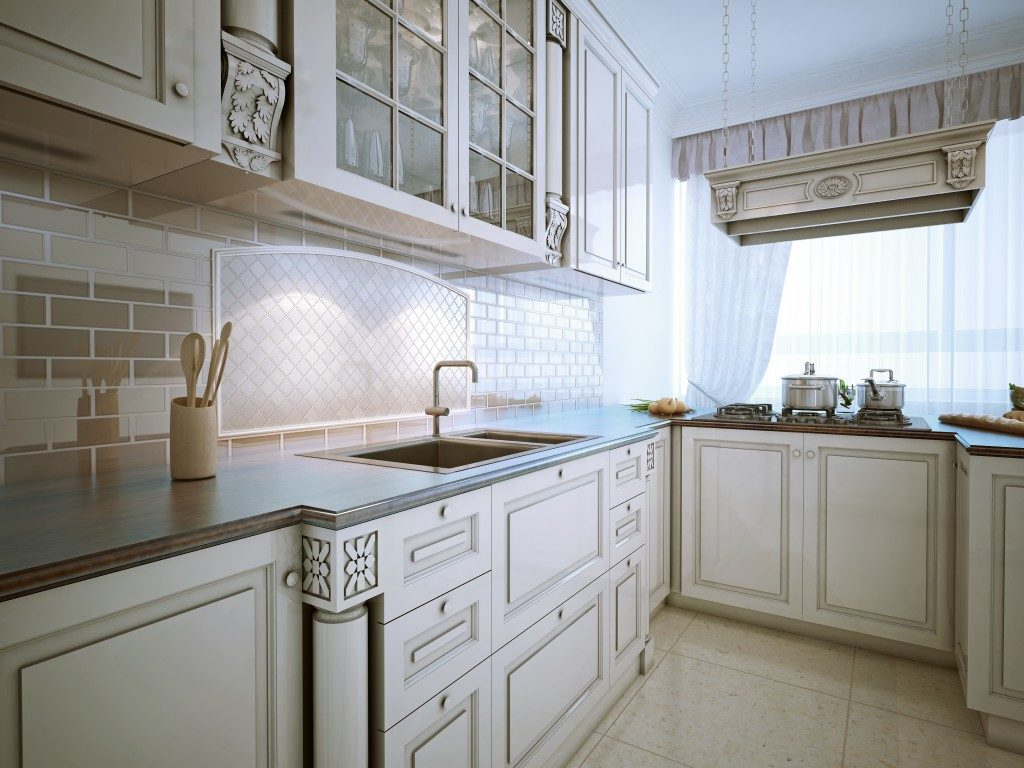 white-themed kitchen