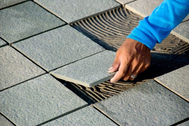 Stone tiled flooring