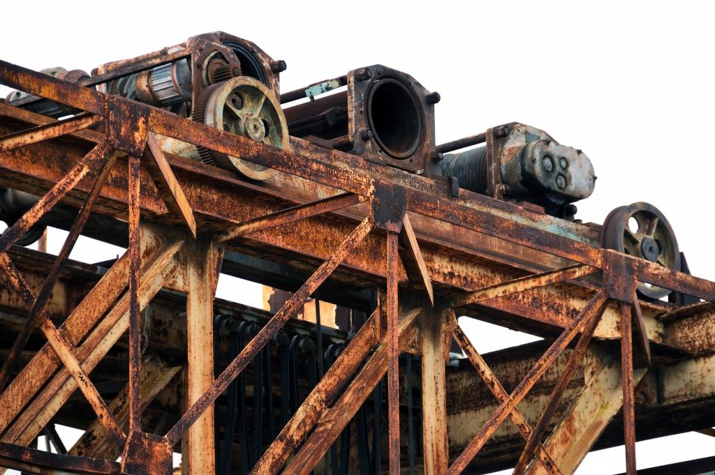 Rusty marble processing industrial machine