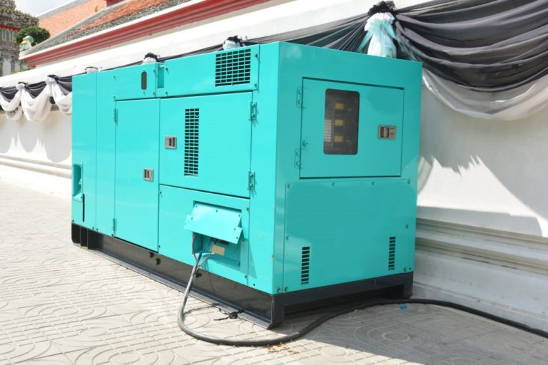 Mobile diesel generator for emergency electric power use