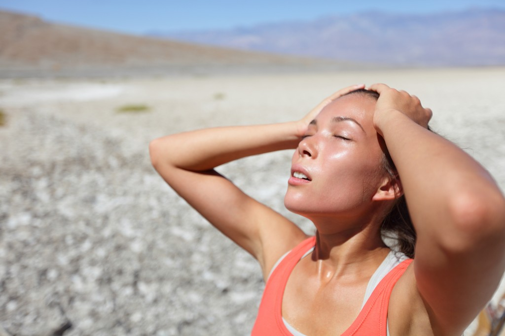 woman exhausted from the heat