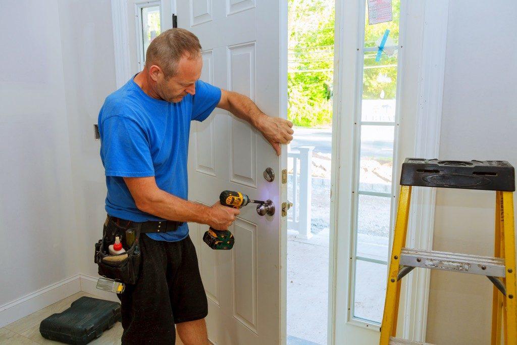 door knob installation