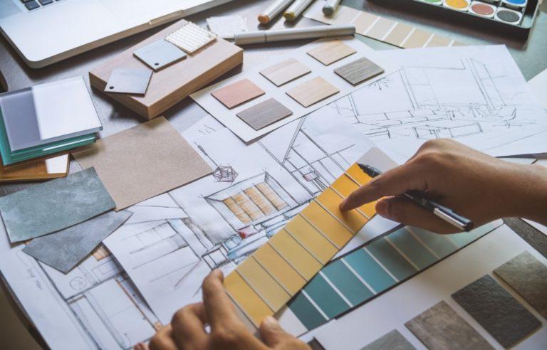 Interior design sketch
