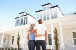 couple looking at their dream house