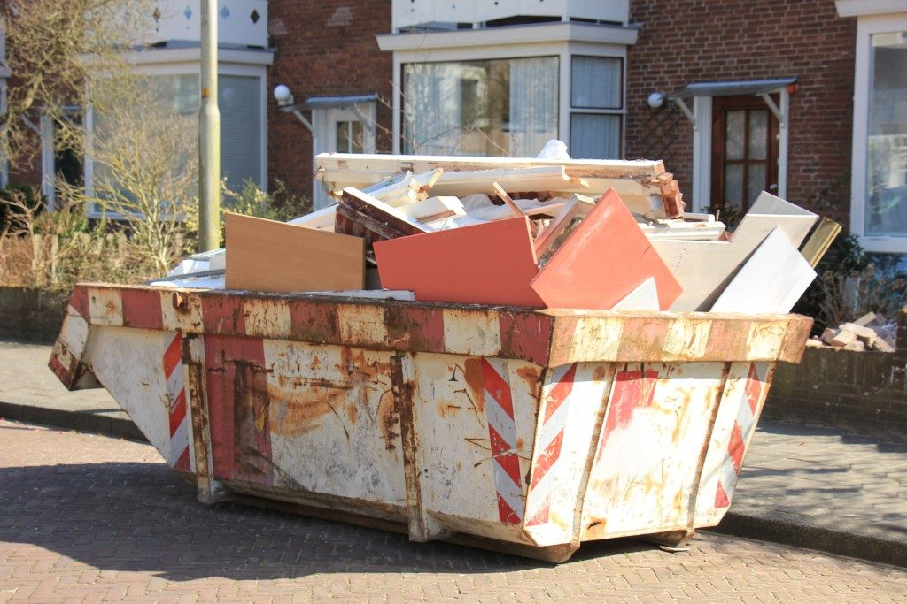 Junk ready for collection
