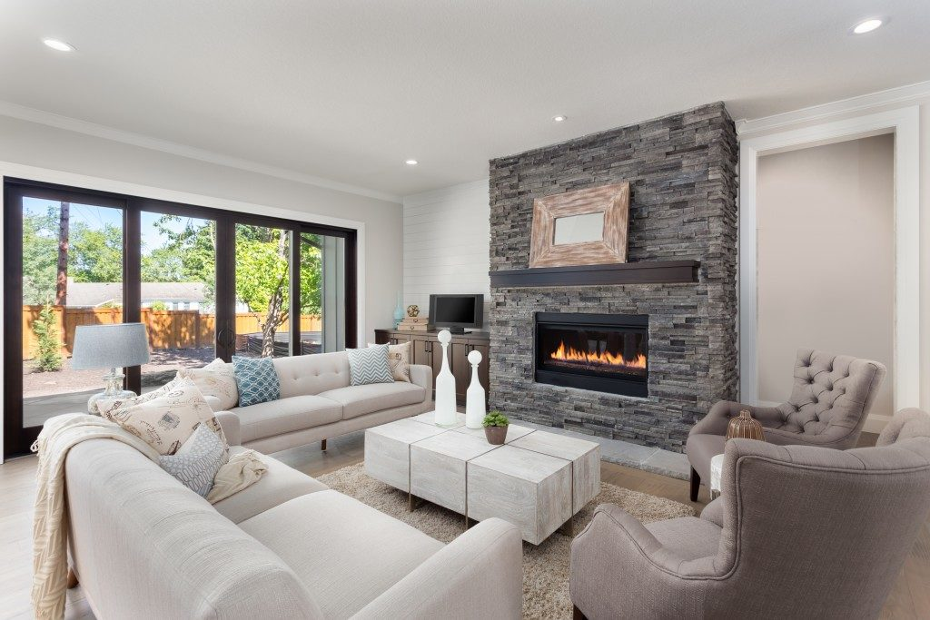 Modern living room with good lighting