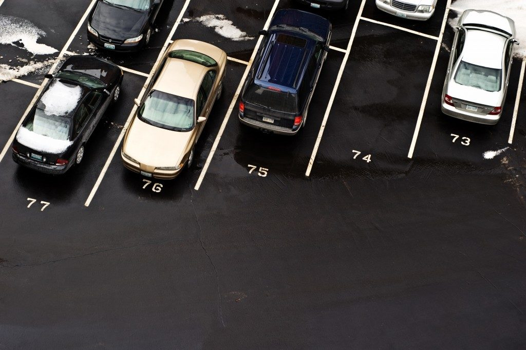 Cars parked in parking lot