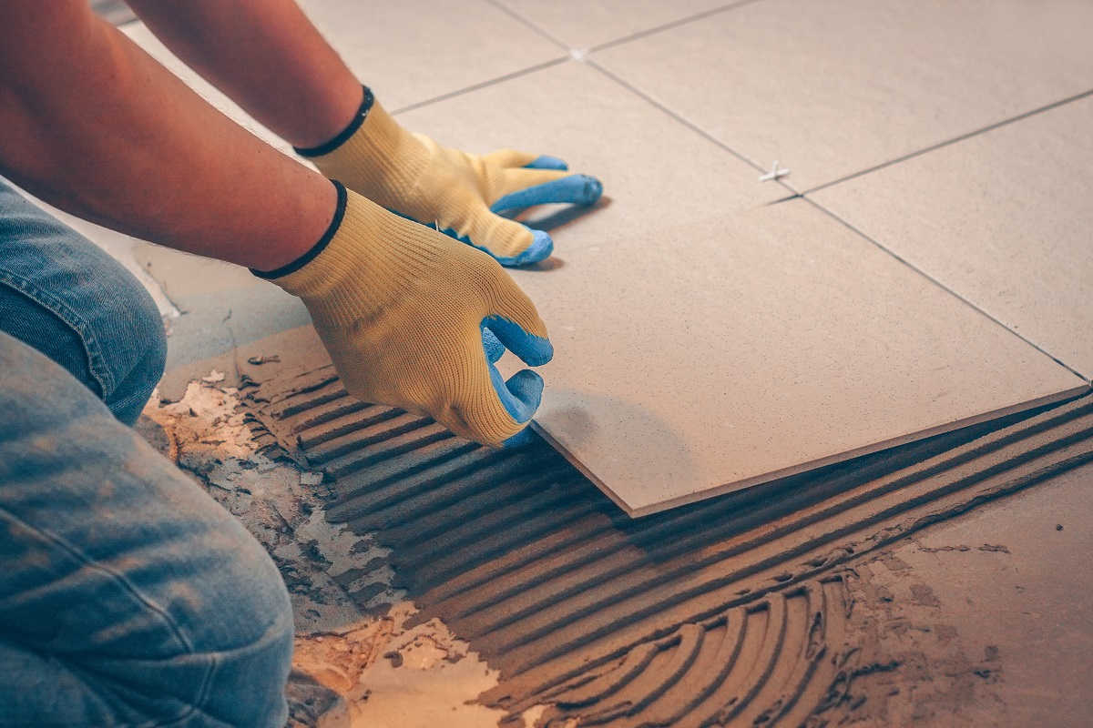 fixing floor tiles
