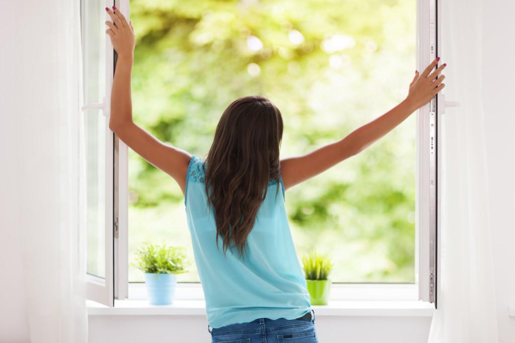 getting fresh air
