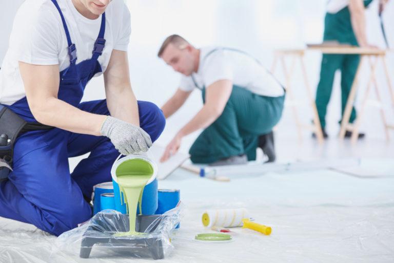 people preparing paint